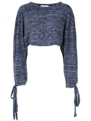 Long sleeves cropped top Giuliana Romanno. Цвет: синий