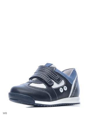Ботинки ELEGAMI. Цвет: темно-синий, белый