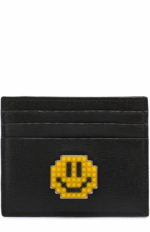 Кожаный футляр для кредитных карт Les petits joueurs. Цвет: черный