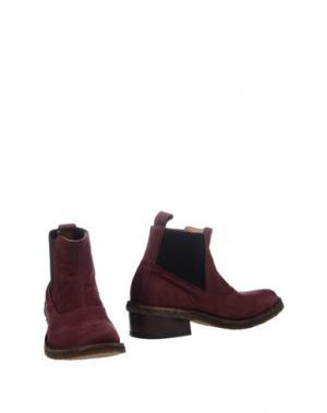 Полусапоги и высокие ботинки UIT. Цвет: красно-коричневый