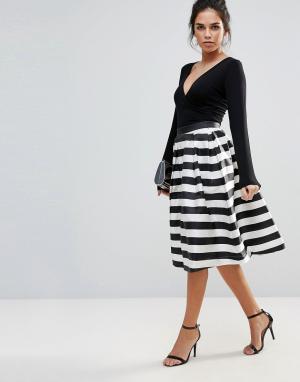 Forever Unique Монохромная юбка для выпускного. Цвет: мульти