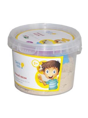 Набор для детского творчества Умный песок 0,5 GENIO KIDS. Цвет: бежевый