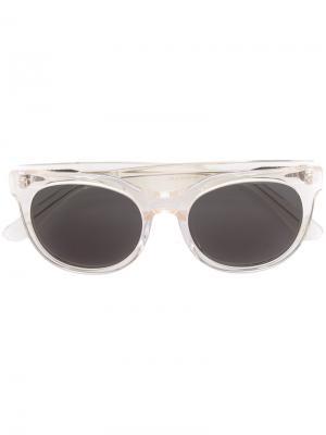 Солнцезащитные очки с квадратной оправой Han Kjøbenhavn. Цвет: телесный
