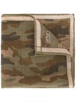 Нагрудный платок с камуфляжным принтом Fefè. Цвет: зелёный
