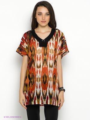 Туника Vero moda. Цвет: терракотовый, белый, красный, оливковый