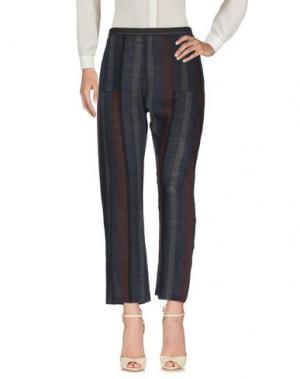 Повседневные брюки HUMANOID. Цвет: темно-синий