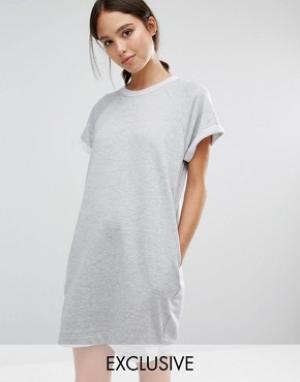 Stitch & Pieces Трикотажное платье-джемпер. Цвет: серый