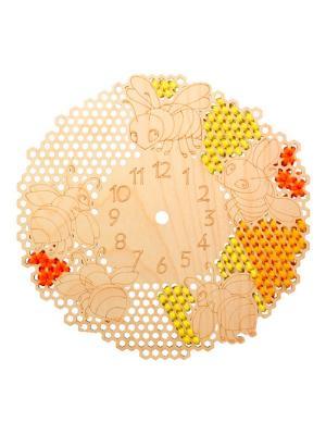 Форма для декора - часы Веселые пчелки Матренин Посад. Цвет: бежевый