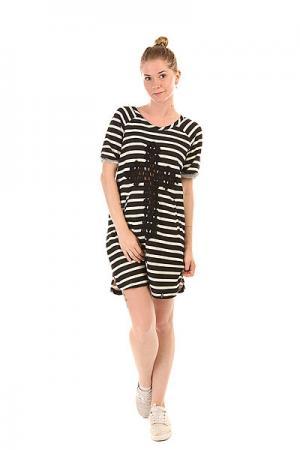 Платье женское  Dress Line E26 Black/White Emblem. Цвет: черный,белый