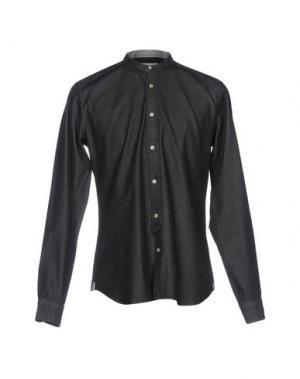 Джинсовая рубашка TINTORIA MATTEI 954. Цвет: черный