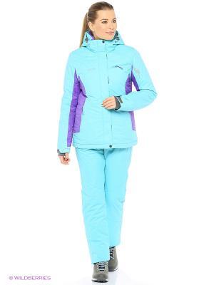 Куртка High Experience. Цвет: бирюзовый, фиолетовый