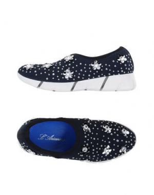 Низкие кеды и кроссовки L'ARIANNA. Цвет: темно-синий