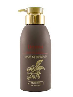 Шампунь для окрашенных и поврежденных волос с маслом макадамии, 400 мл. Deora Cosmetics. Цвет: бежевый