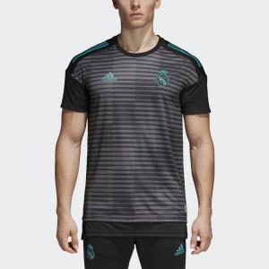 Домашняя предматчевая футболка Реал Мадрид  Performance adidas. Цвет: черный