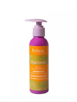 Регенерирующая и  укрепляющая сыворотка для волос с экстрактом плаценты EVINAL. Цвет: прозрачный