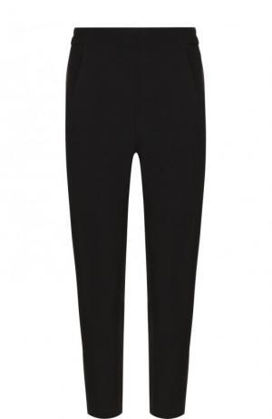 Укороченные шерстяные брюки Ann Demeulemeester. Цвет: черный