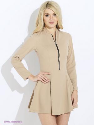 Платье iSwag. Цвет: бежевый