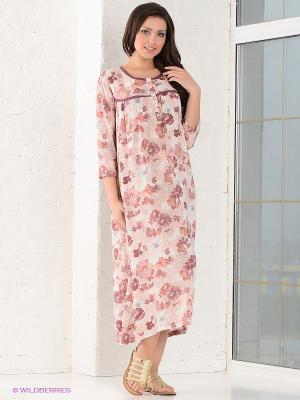 Сорочка CATHERINE'S. Цвет: розовый, белый