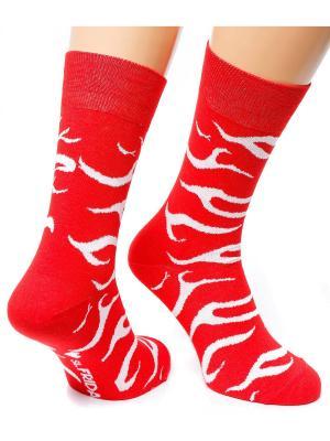 Дизайнерские Носки St.Friday Socks. Цвет: красный