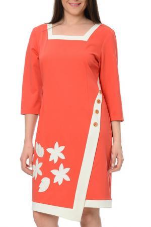Платье Milanesse. Цвет: оранжевый