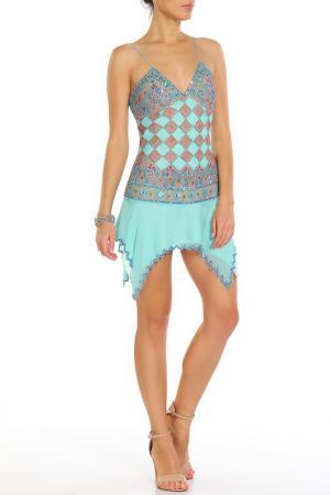 Платье Aftershock. Цвет: aqua