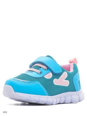 Ботинки PlayToday. Цвет: зеленый, голубой, желтый, белый
