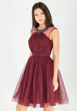 Платье Little Mistress. Цвет: бордовый