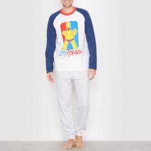 Пижама SIMPSONS. Цвет: темно-синий/серый меланж