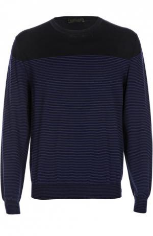 Вязаный пуловер Z Zegna. Цвет: темно-синий
