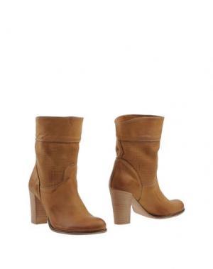 Полусапоги и высокие ботинки SCOOP!. Цвет: желто-коричневый
