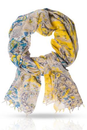 Палантин Michel Katana. Цвет: синий, желтый, коричневый
