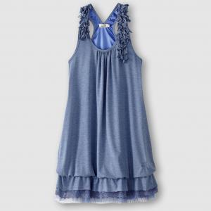 Платье-футляр с бахромой MOLLY BRACKEN. Цвет: бледно-розовый,изумрудный,синий морской,экрю