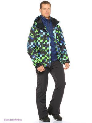 Куртка Quiksilver. Цвет: синий, зеленый, черный