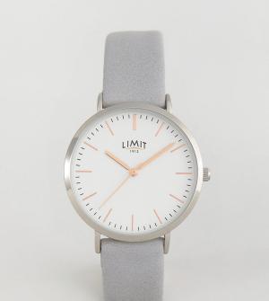 Limit Часы с серым ремешком эксклюзивно для ASOS. Цвет: серый