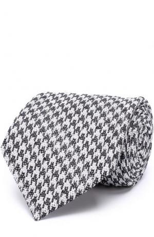 Шелковый галстук с узором Tom Ford. Цвет: темно-серый