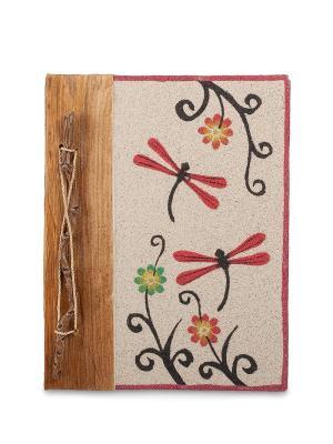 Блокнот Стрекозы бол. (о.Бали) Decor & gift. Цвет: бежевый