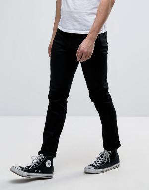 Nudie Jeans Черные джинсы Co Tilted Tor. Цвет: черный
