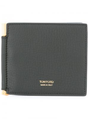 Бумажник с зажимом для купюр Tom Ford. Цвет: чёрный