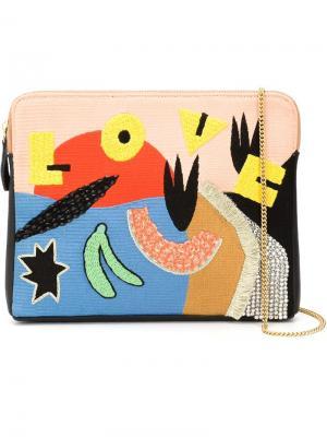 Клатч с вышивкой love Lizzie Fortunato Jewels. Цвет: многоцветный
