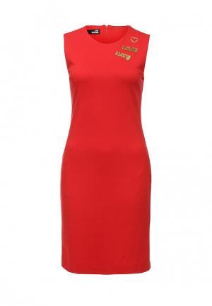 Платье Love Moschino. Цвет: красный
