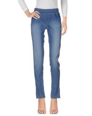 Джинсовые брюки DIMENSIONE DANZA. Цвет: синий