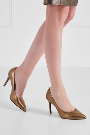 Кожаные туфли Chapurin. Цвет: золотой