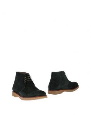 Полусапоги и высокие ботинки BORGIOLI. Цвет: зеленый