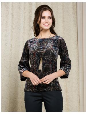 Блузка KEY FASHION. Цвет: темно-серый, бордовый, синий