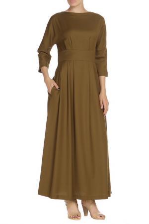 Платье NATALIA PICARIELLO. Цвет: оливковый