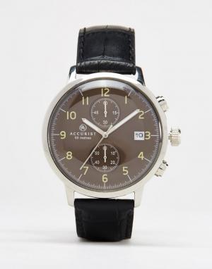 Accurist Часы с хронографом и черным ремешком. Цвет: черный