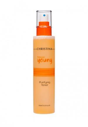 Тоник очищающий Christina. Цвет: оранжевый