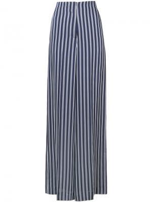Широкие полосатые брюки Dvf Diane Von Furstenberg. Цвет: синий