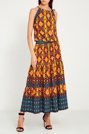 Платье-макси с этническим принтом Hale Bob. Цвет: multicolor