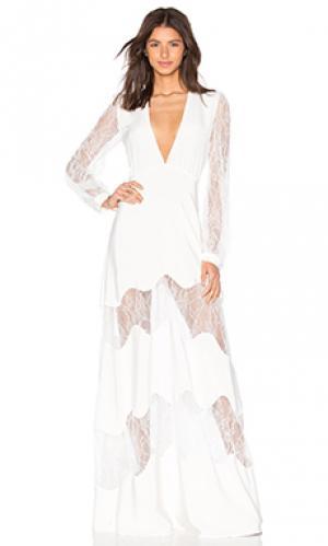 Вечернее платье friar STONE_COLD_FOX. Цвет: белый